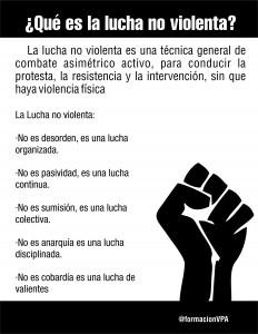 que es la lucha no violenta
